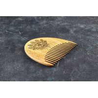 "Wooden beard comb ""Eye"""