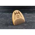 "Wooden beard comb ""Star Wars"""