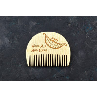 "Wooden beard comb ""Cheshire Cat"""